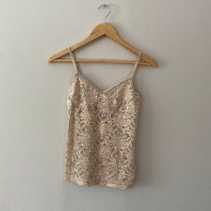 Forever21 Champagne Lace Tank Top